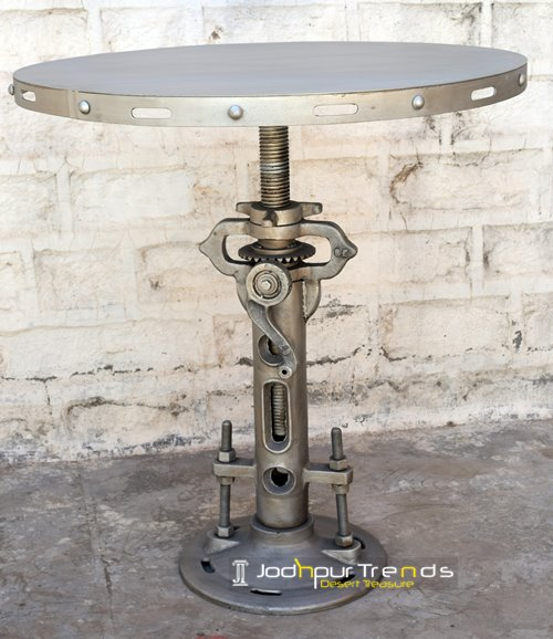 bar table industrial iron cafe restaurant india
