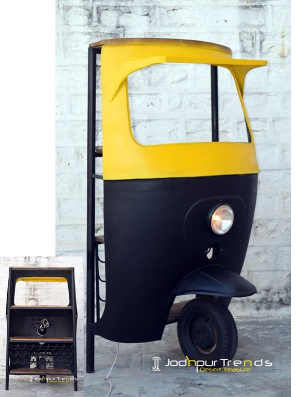 taxi bar cabinet, tuktuk bar cabinet, Automobile Furniture ) (2)